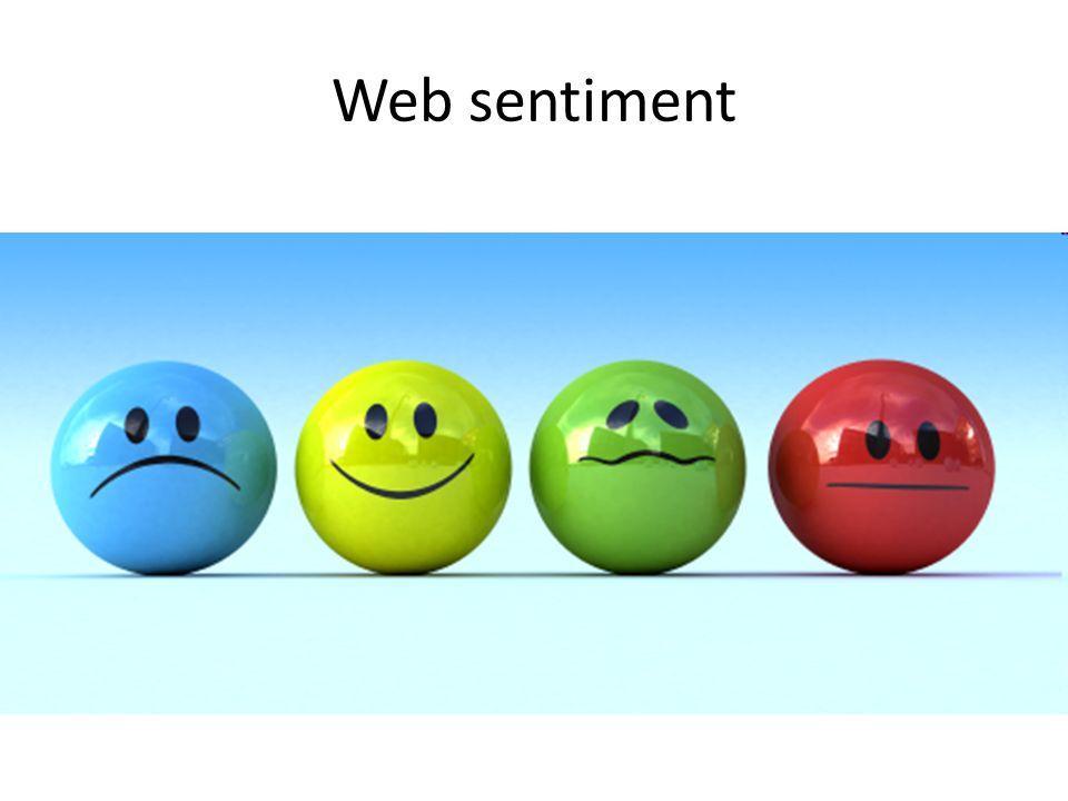 Web sentiment