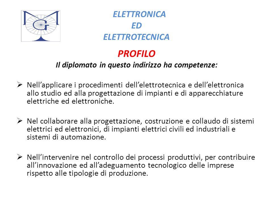 Ed inoltre sa … Organizzare e gestire sistemi elettrici ed elettronici complessi.