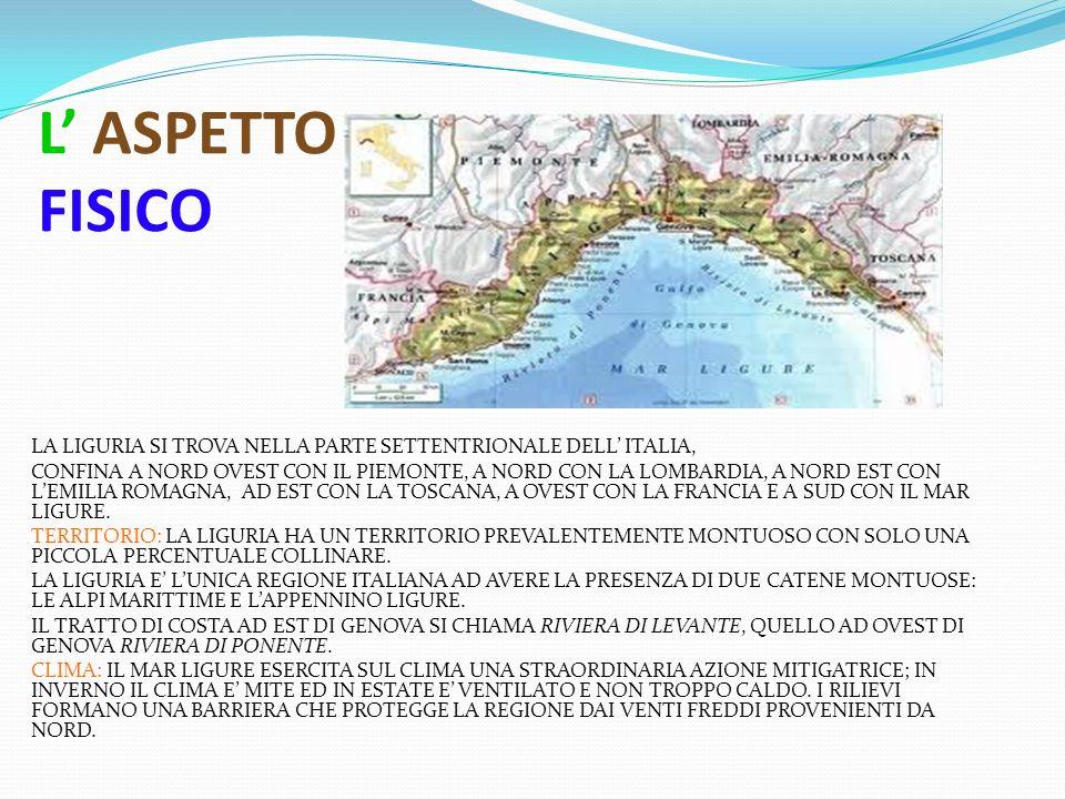 LA LIGURIA A CURA DI MATILDA ARTUSO C LASSE V B – A NNO S COLASTICO 2012/2013