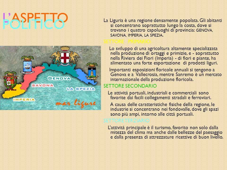 L ASPETTO FISICO LA LIGURIA SI TROVA NELLA PARTE SETTENTRIONALE DELL ITALIA, CONFINA A NORD OVEST CON IL PIEMONTE, A NORD CON LA LOMBARDIA, A NORD EST