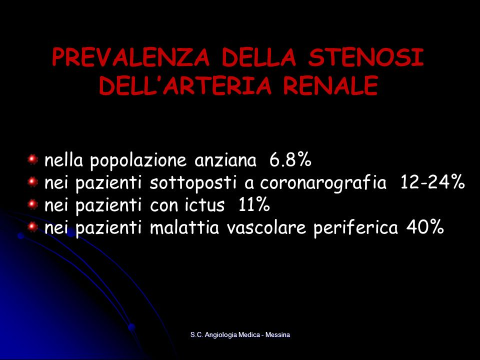 % Patients showing an improvement of GFR after revascularization Improved GFR Worsened GFR S.C.