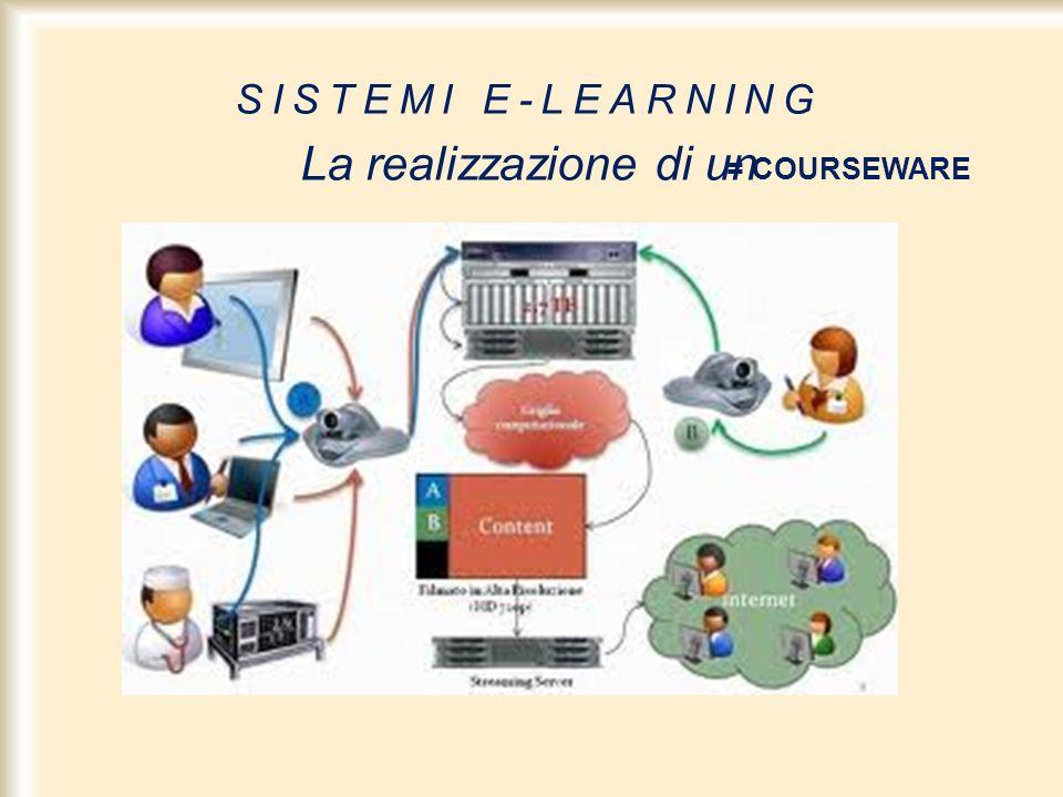SISTEMI E-LEARNING La realizzazione di un = COURSEWARE