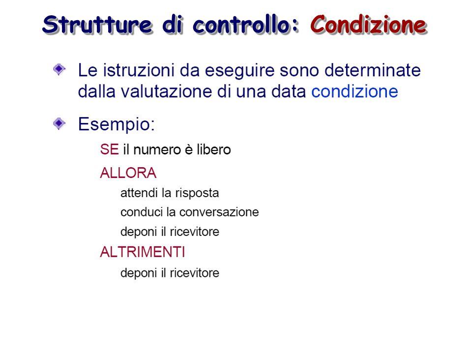 Strutture di controllo: Condizione