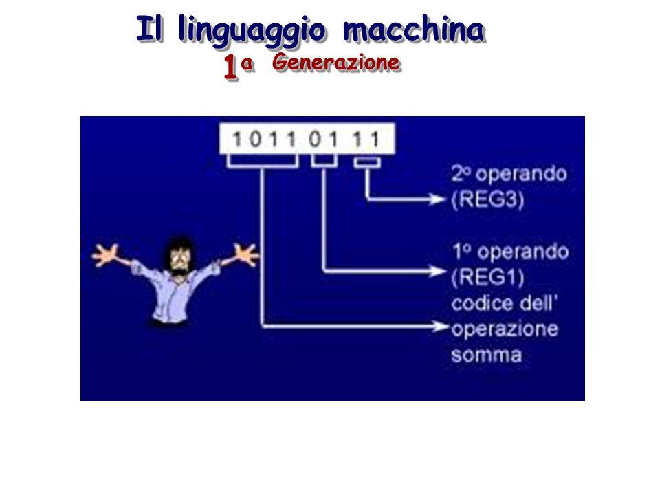 Il linguaggio macchina 1 a Generazione