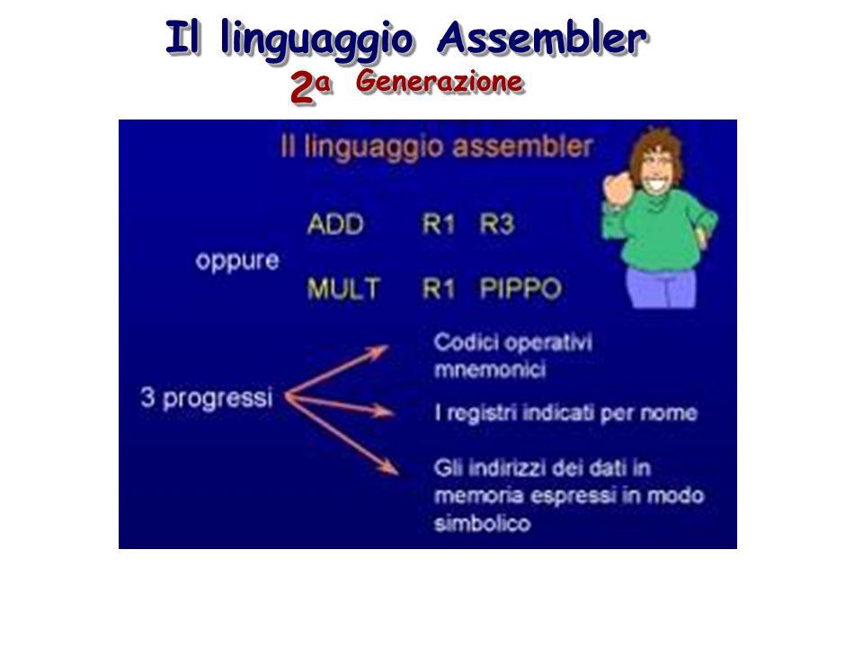 Il linguaggio Assembler 2 a Generazione
