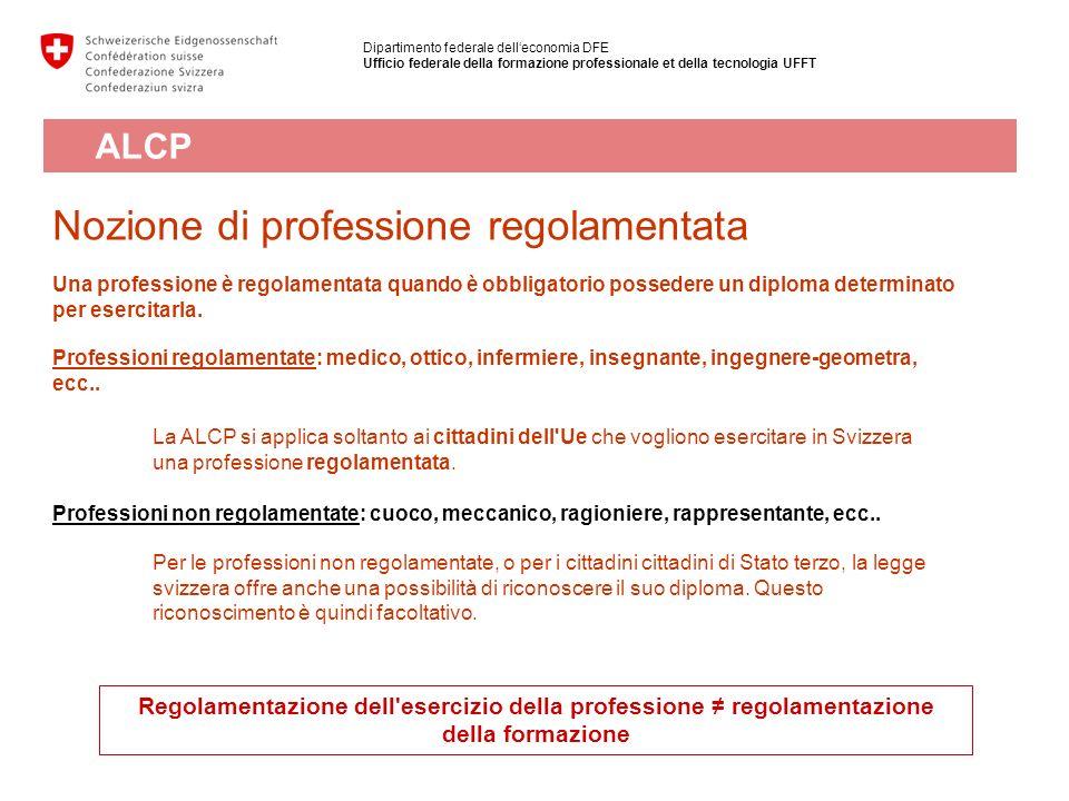 Nozione di professione regolamentata Una professione è regolamentata quando è obbligatorio possedere un diploma determinato per esercitarla. Professio