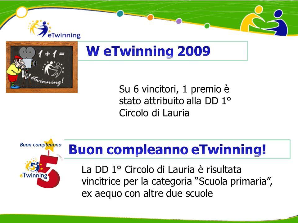 La DD 1° Circolo di Lauria è risultata vincitrice per la categoria Siamo tutti europei!, ex aequo con unaltra scuola