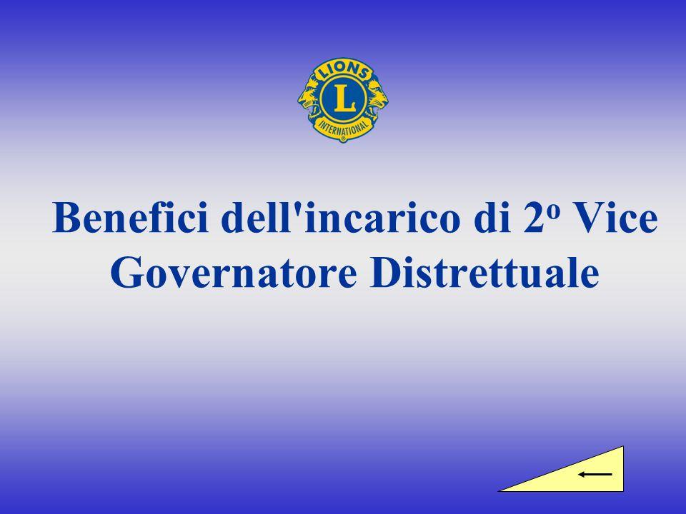 Benefici dell incarico di 2 o Vice Governatore Distrettuale