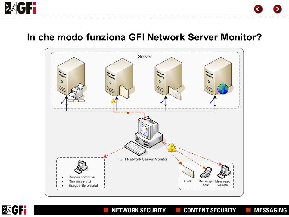 In che modo funziona GFI Network Server Monitor