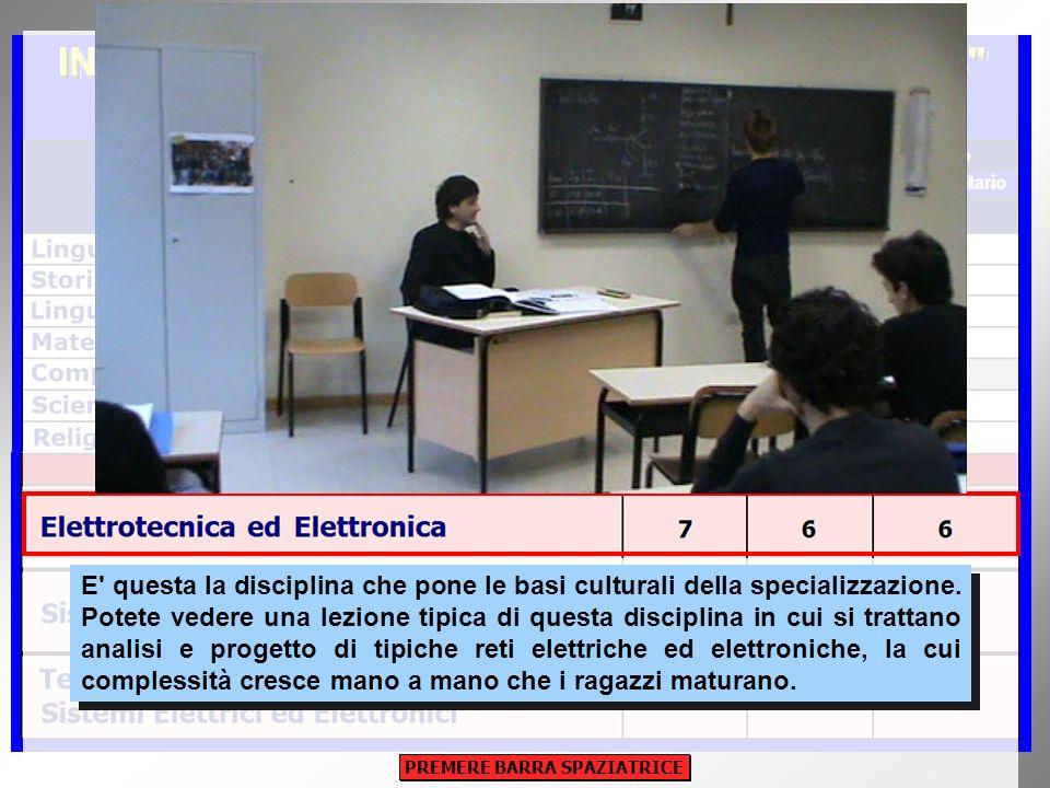 E' questa la disciplina che pone le basi culturali della specializzazione. Potete vedere una lezione tipica di questa disciplina in cui si trattano an