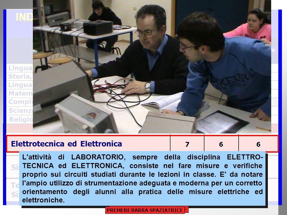 L attività di LABORATORIO, sempre della disciplina ELETTRO- TECNICA ed ELETTRONICA, consiste nel fare misure e verifiche proprio sui circuiti studiati durante le lezioni in classe.