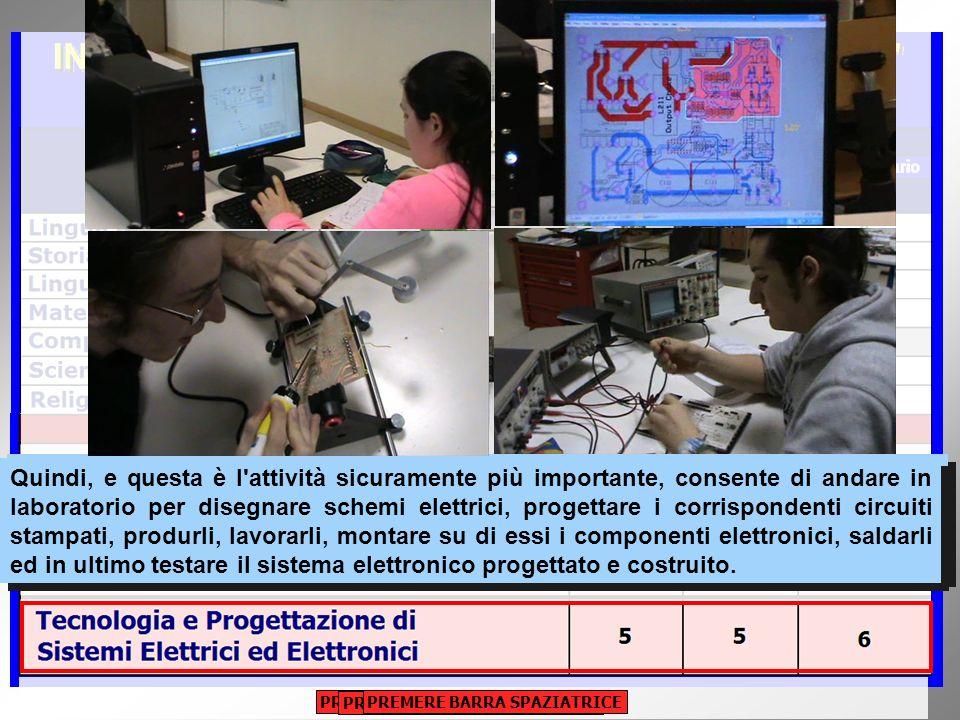 Infine, la disciplina TECNOLOGIA E PROGETTAZIONE DI SISTEMI ELETTRICI ED ELETTRONICI consente agli insegnanti innanzitutto di spiegare la tipologia ed il funzionamento dei componenti elettrici ed elettronici facendo uso di efficaci presentazioni multimediali.