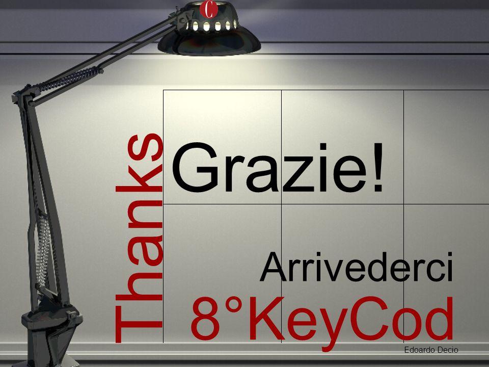 Thanks Grazie! Edoardo Decio 8°KeyCod e Arrivederci