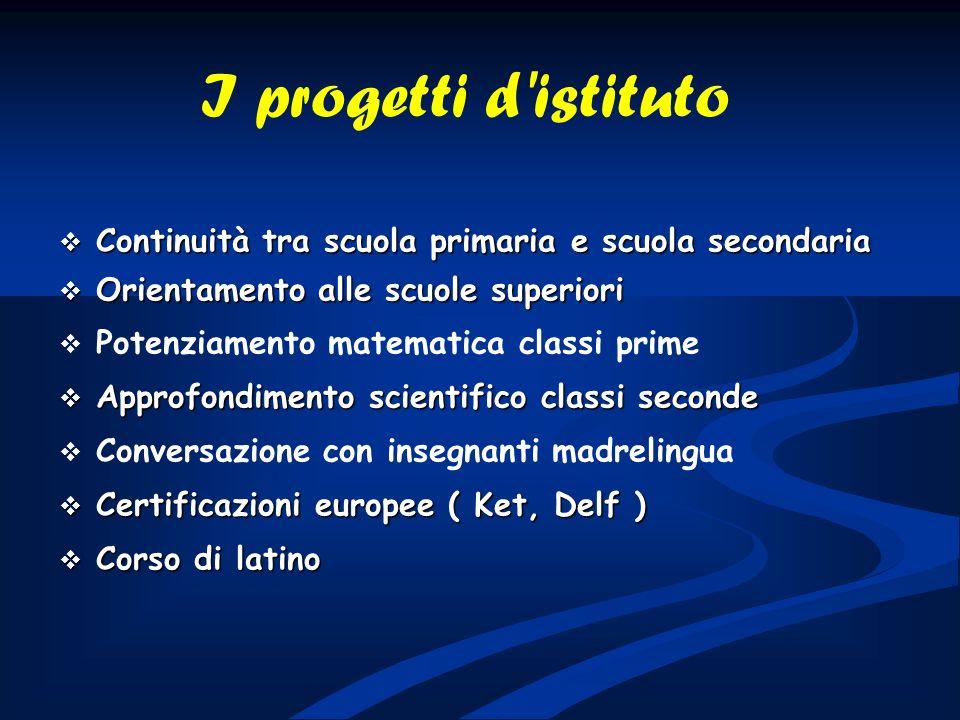 Continuità tra scuola primaria e scuola secondaria Continuità tra scuola primaria e scuola secondaria Orientamento alle scuole superiori Orientamento
