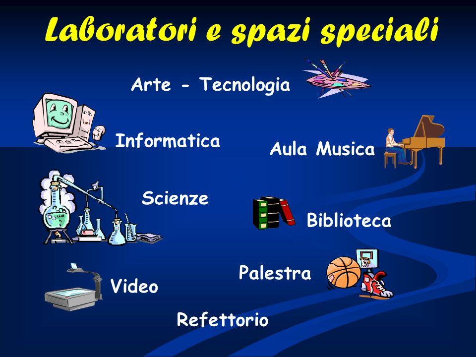 Palestra Arte - Tecnologia Informatica Scienze Refettorio Biblioteca Video Aula Musica Laboratori e spazi speciali