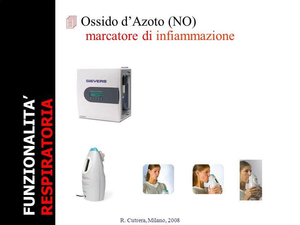 R. Cutrera, Milano, 2008 4 Ossido dAzoto (NO) marcatore di infiammazione FUNZIONALITA RESPIRATORIA