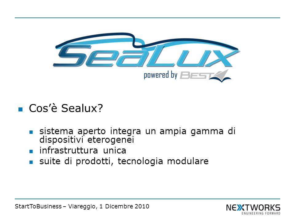 StartToBusiness – Viareggio, 1 Dicembre 2010 Cosè Sealux.
