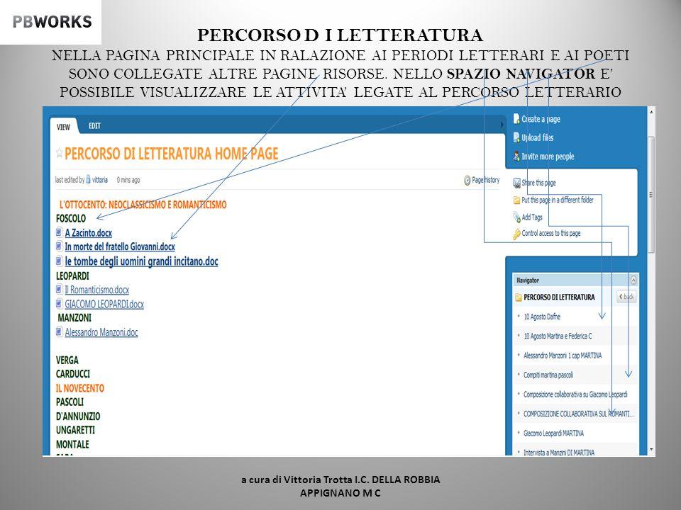 SEGUE LATTIVITA DEL GRUPPO 4 a cura di Vittoria Trotta I.C. DELLA ROBBIA APPIGNANO M C