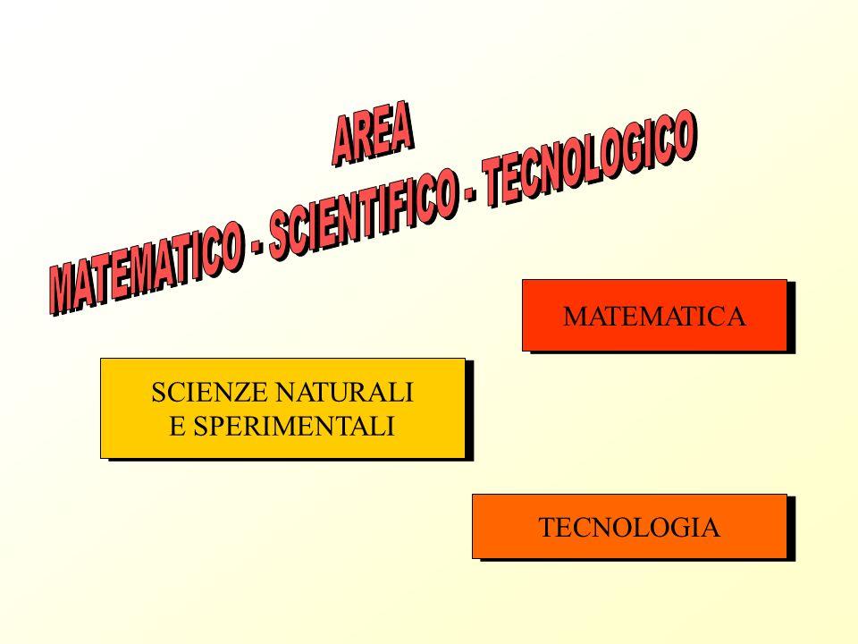 MATEMATICA SCIENZE NATURALI E SPERIMENTALI SCIENZE NATURALI E SPERIMENTALI TECNOLOGIA