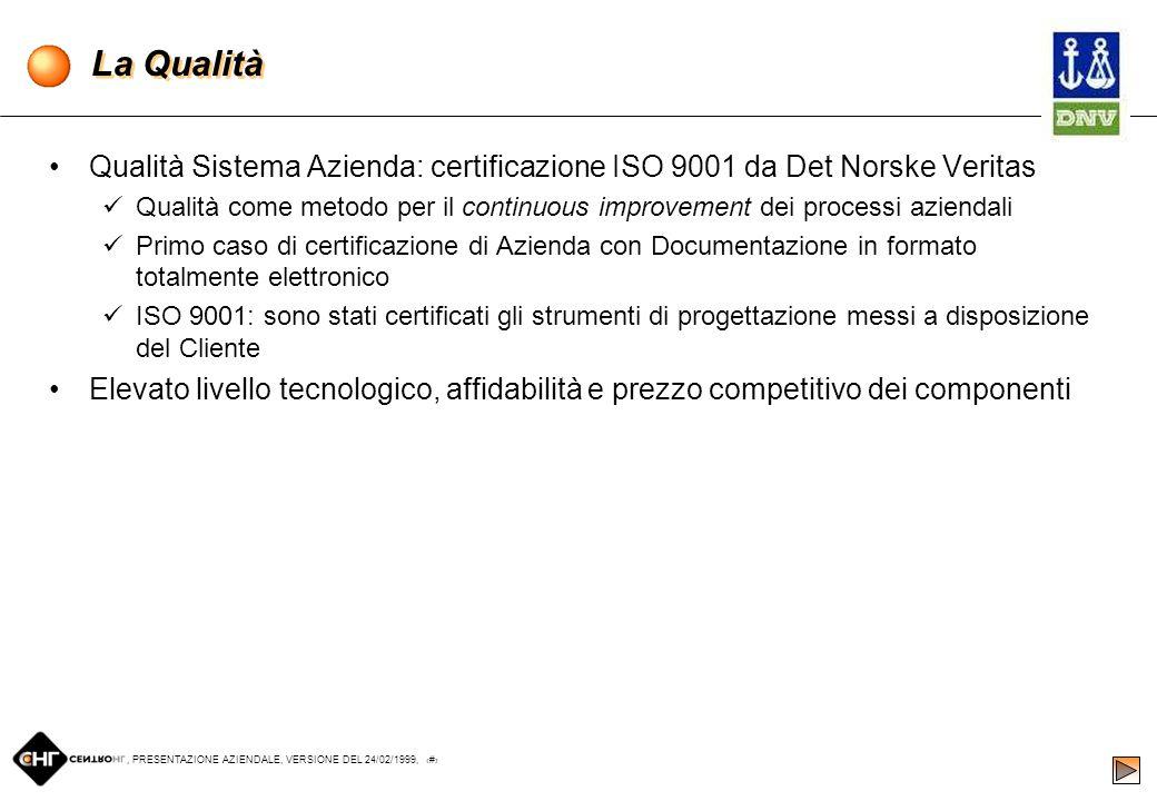 , PRESENTAZIONE AZIENDALE, VERSIONE DEL 24/02/1999, 16 Internet come motore del Sistema Informativo Attraverso laccesso al sito WWW.CENTROHL.IT, quals