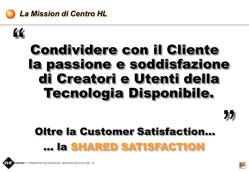 , PRESENTAZIONE AZIENDALE, VERSIONE DEL 24/02/1999, 3 Il Gruppo Centro HL ItaliaNet S.r.l.