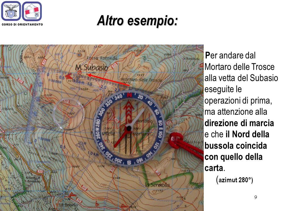 29 CORSO DI ORIENTAMENTO Diversi tipi di carte geografiche 4) Piante e mappe aventi scala maggiore di 1: 10.000.