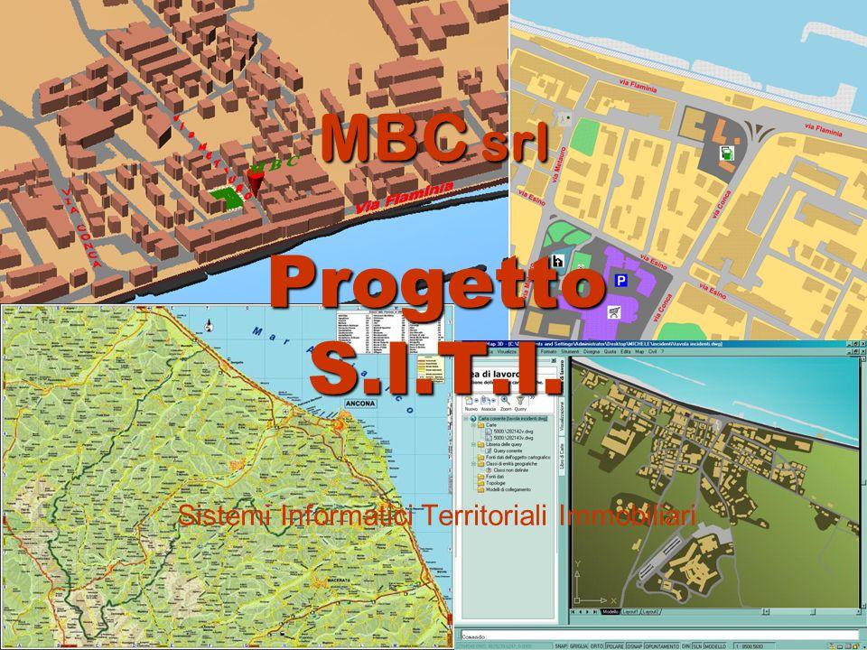 Mission e obiettivi La MBC S.r.l., legata al territorio in cui opera, vuole fornire servizi innovativi per quanto riguarda la tecnologia dinformazione legata alla gestione dei dati territoriali.