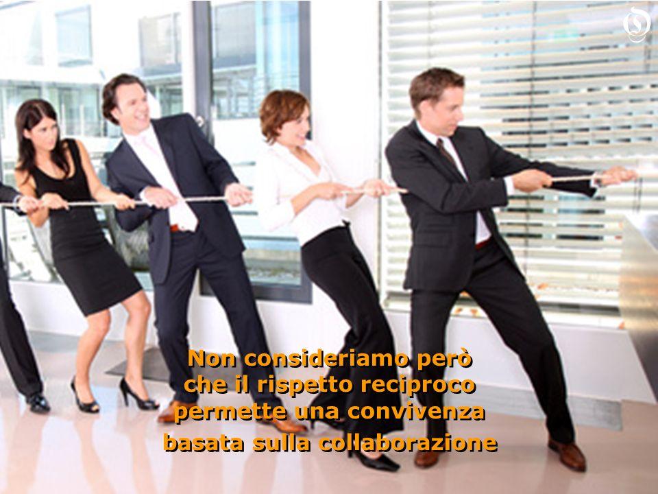 Non consideriamo però che il rispetto reciproco permette una convivenza basata sulla collaborazione Non consideriamo però che il rispetto reciproco pe