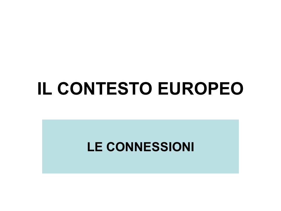 IL CONTESTO EUROPEO LE CONNESSIONI