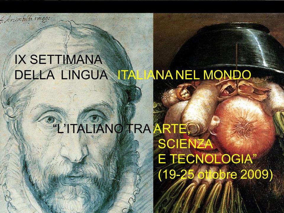ll cibo in un pittore del Cinquecento italiano: Giuseppe Arcimboldi IX SETTIMANA DELLA LINGUA ITALIANA NEL MONDO LITALIANO TRA ARTE, SCIENZA E TECNOLO