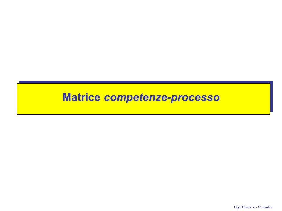 Gigi Guarise - Consulta F 1 F 2 F 3F 4F 5 FASI DI PROCESSO / PROGETTO F nCOMPETENZE C1.