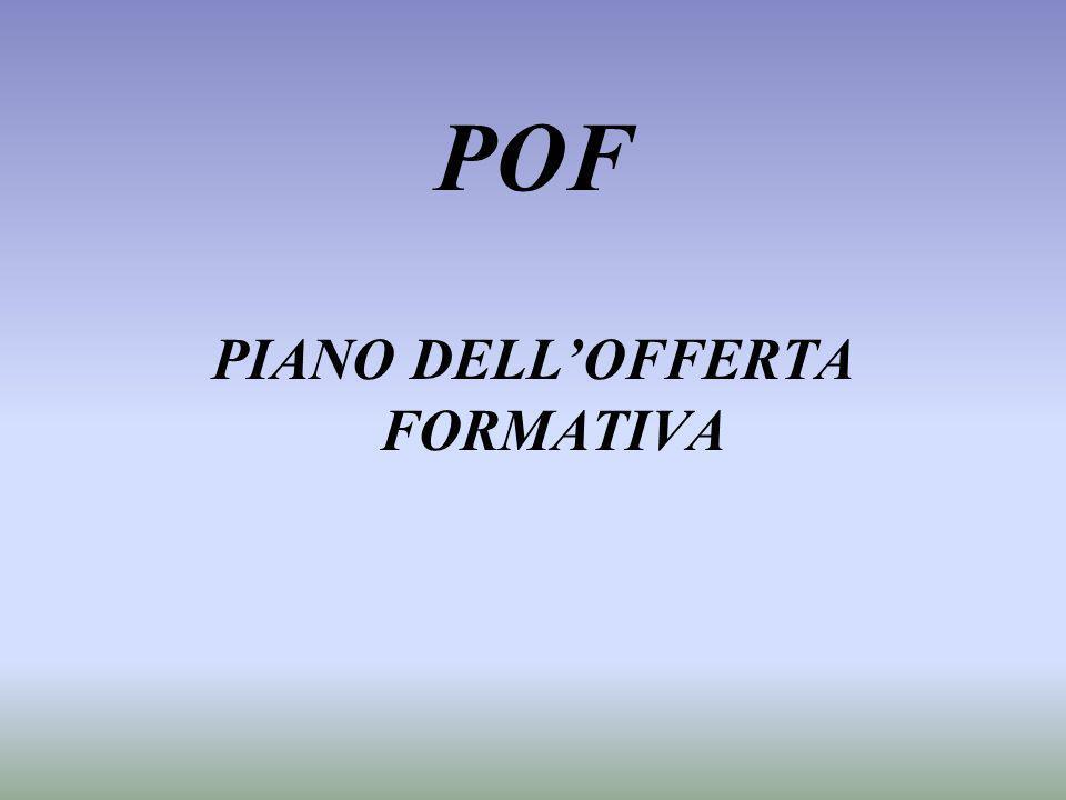 POF PIANO DELLOFFERTA FORMATIVA