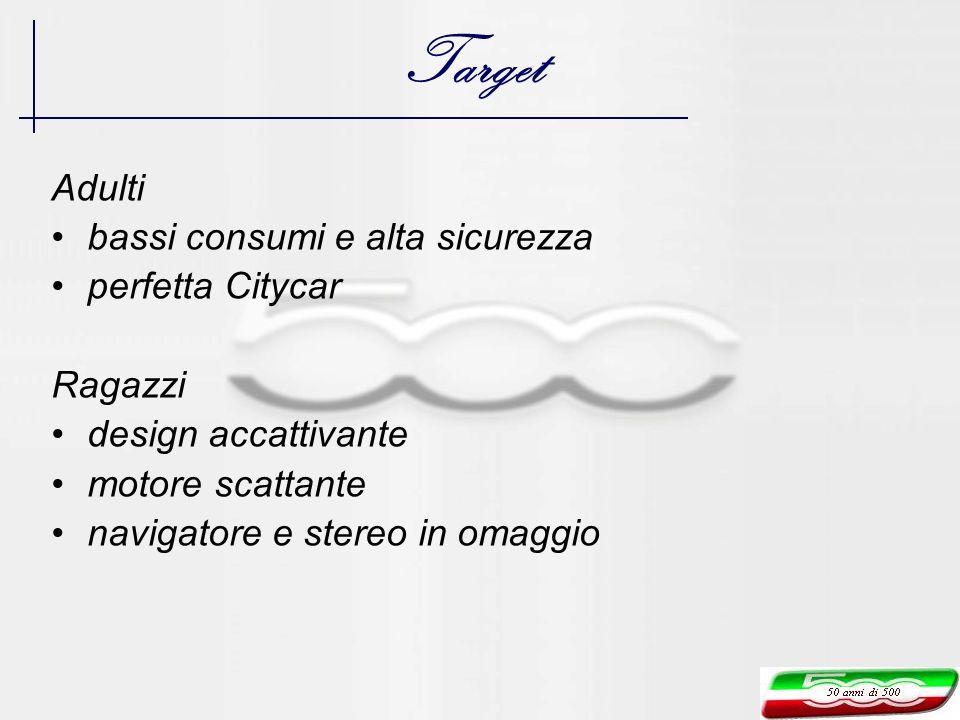 Target Adulti bassi consumi e alta sicurezza perfetta Citycar Ragazzi design accattivante motore scattante navigatore e stereo in omaggio