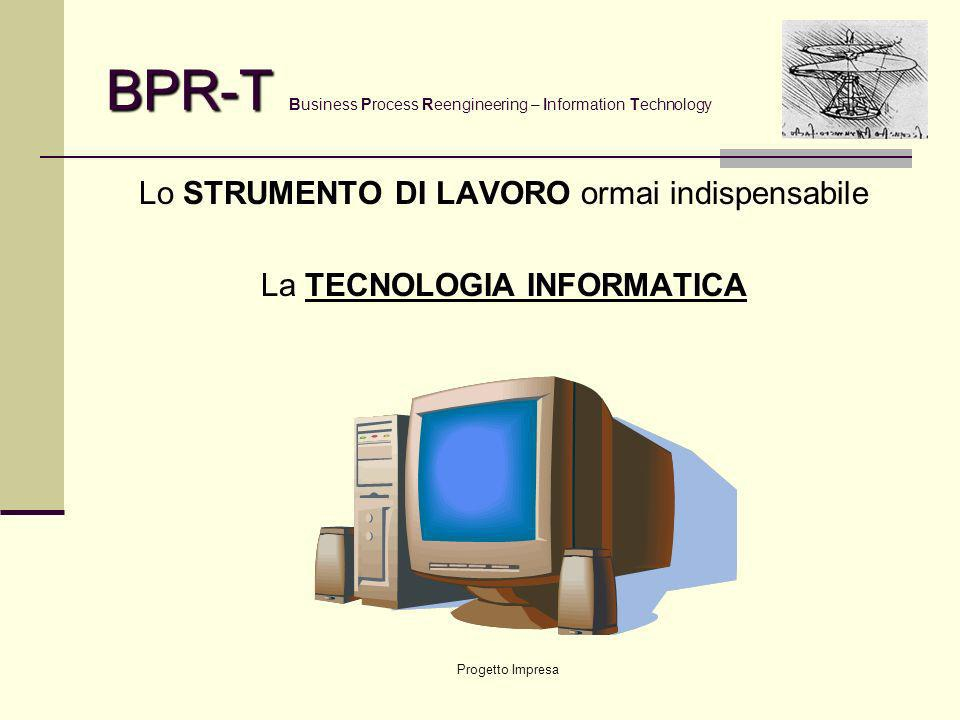 Progetto Impresa BPR-T BPR-T Business Process Reengineering – Information Technology IL METODO PPM Process and Project Management Gestione per PROCESS