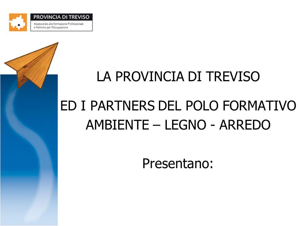 LA PROVINCIA DI TREVISO ED I PARTNERS DEL POLO FORMATIVO AMBIENTE – LEGNO - ARREDO Presentano: