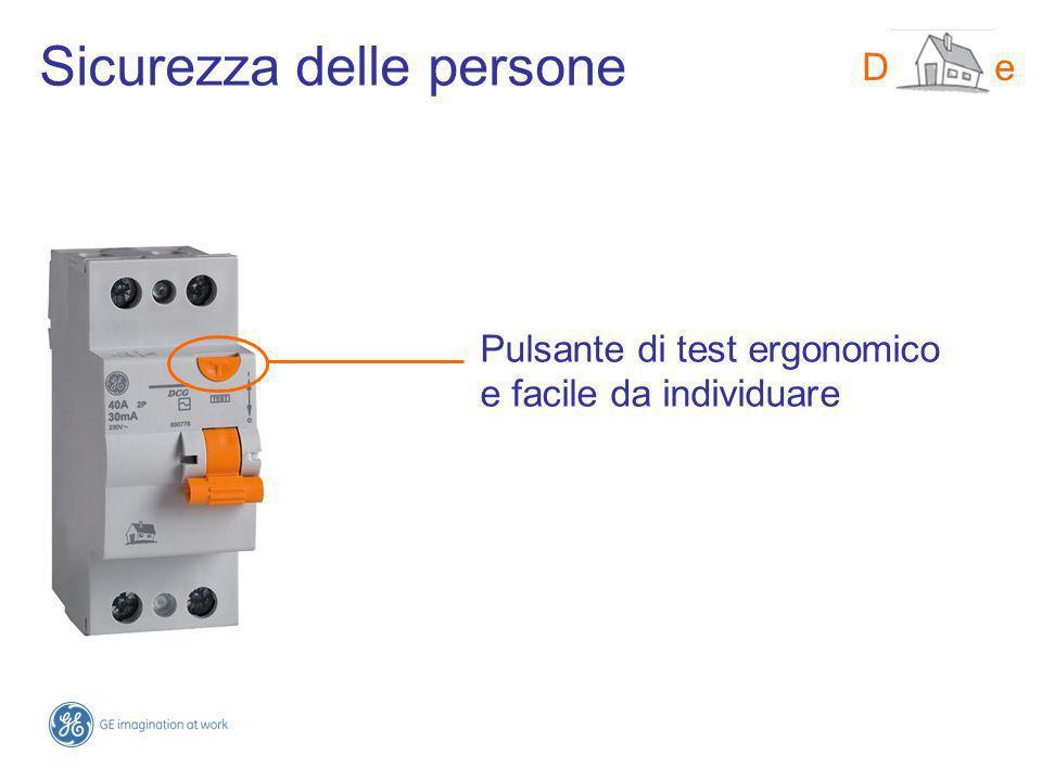 DMS-line Pulsante di test ergonomico e facile da individuare Sicurezza delle persone