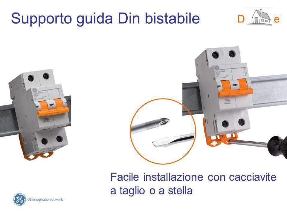 Supporto guida Din bistabile DMS-line Facile installazione con cacciavite a taglio o a stella