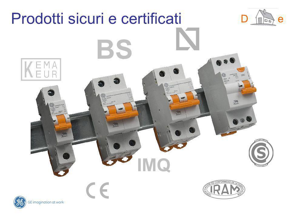 Prodotti sicuri e certificati DMS-line BS IMQ