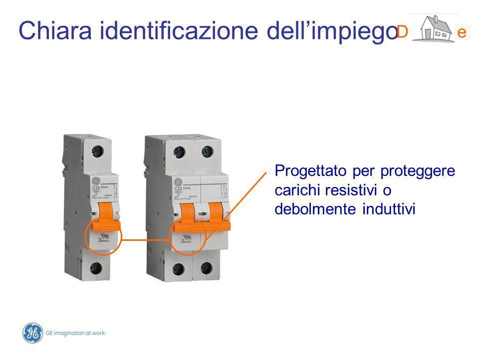 Chiara identificazione dellimpiego Progettato per proteggere carichi resistivi o debolmente induttivi DMS-line