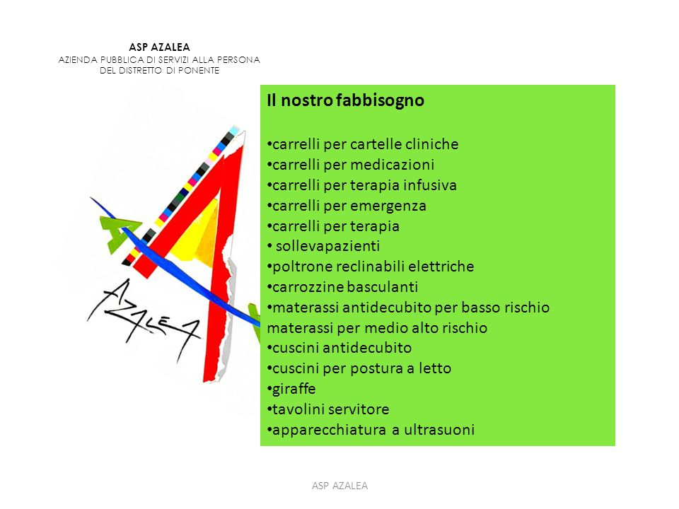 ASP AZALEA INFO Asp Azalea Sede legale Corso Matteotti, 124 29015 Castel San Giovanni Tel.