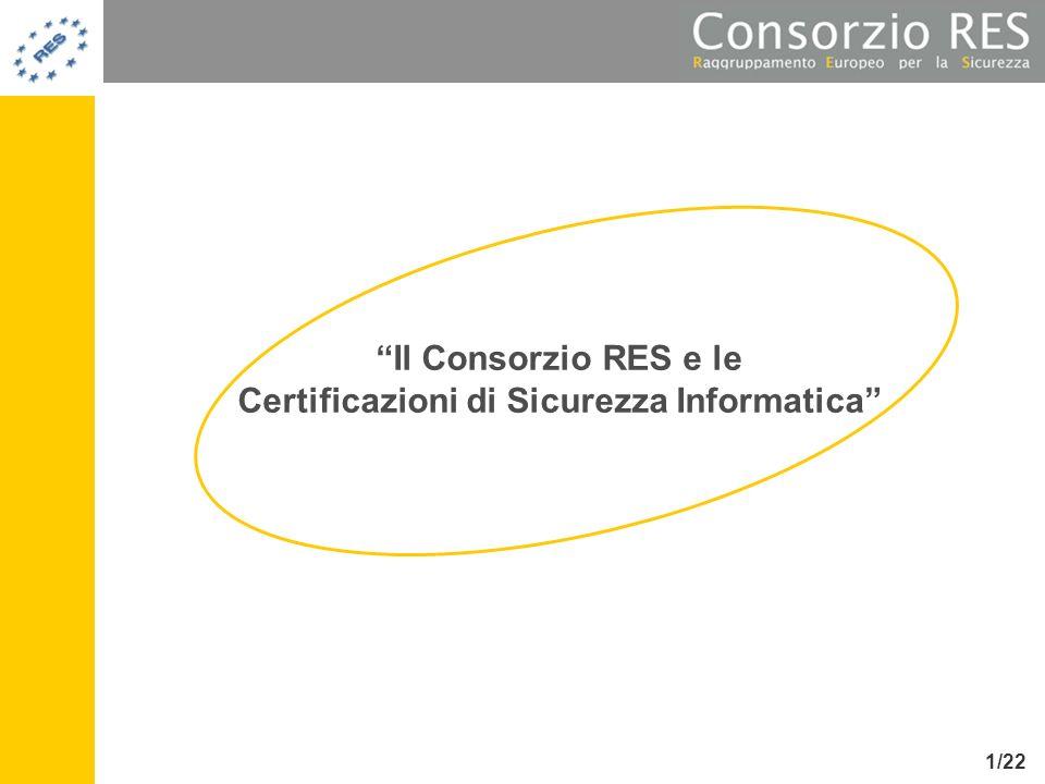 Il Consorzio RES e le Certificazioni di Sicurezza Informatica 1/22