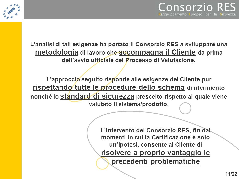 Lintervento del Consorzio RES, fin dai momenti in cui la Certificazione è solo unipotesi, consente al Cliente di risolvere a proprio vantaggio le prec