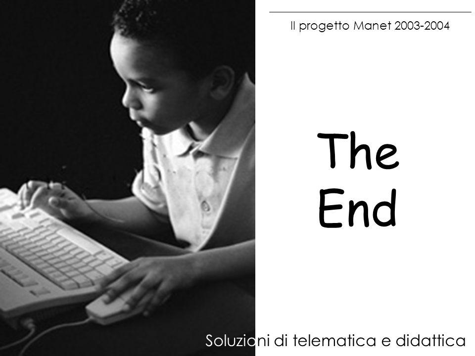 Il progetto Manet 2003-2004 Soluzioni di telematica e didattica The End