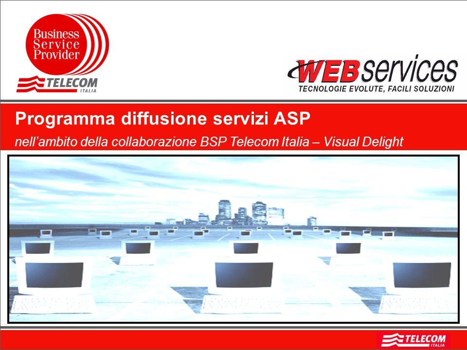 Programma diffusione servizi ASP nellambito della collaborazione BSP Telecom Italia – Visual Delight