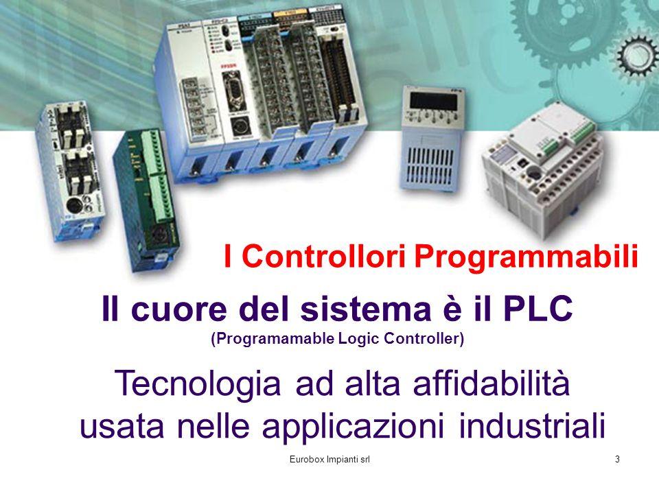 Eurobox Impianti srl3 Il cuore del sistema è il PLC (Programamable Logic Controller) I Controllori Programmabili Tecnologia ad alta affidabilità usata nelle applicazioni industriali
