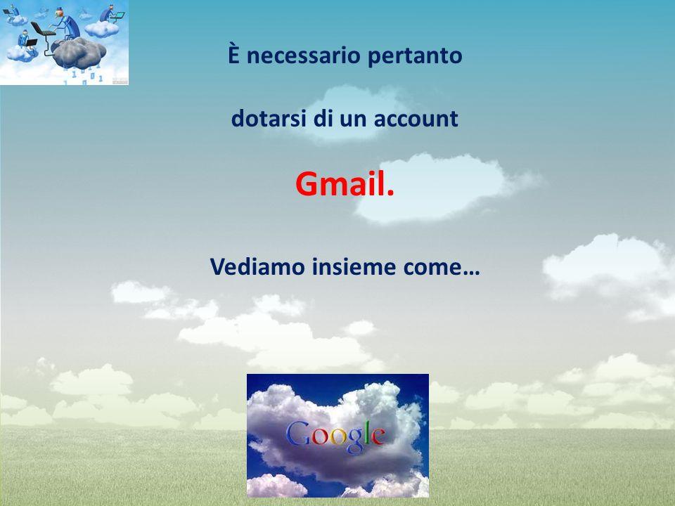 È necessario pertanto dotarsi di un account Gmail. Vediamo insieme come…