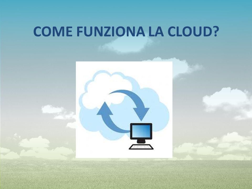 Invece di usare i computer, i dati vengono salvati direttamente sulla rete in una sorta di nuvola