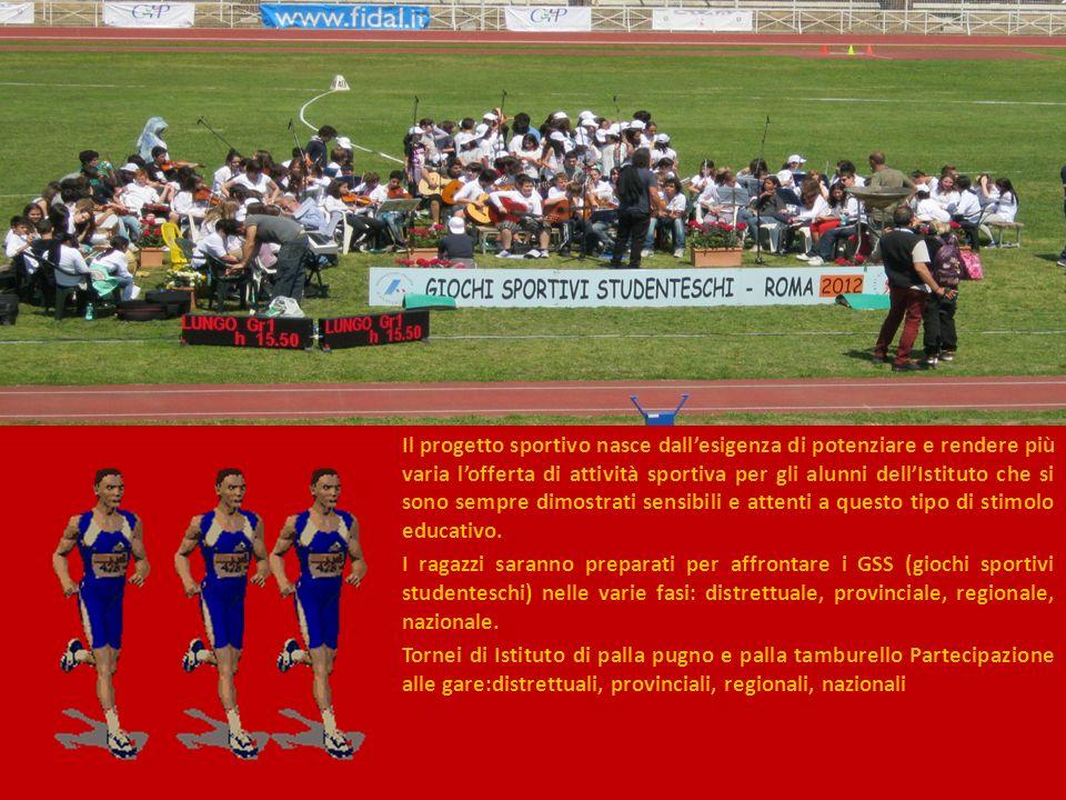 Il progetto sportivo nasce dallesigenza di potenziare e rendere più varia lofferta di attività sportiva per gli alunni dellIstituto che si sono sempre