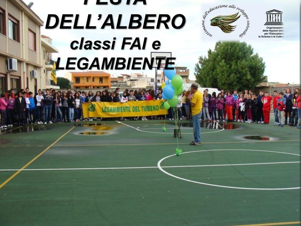 FESTA DELLALBERO classi FAI e LEGAMBIENTE