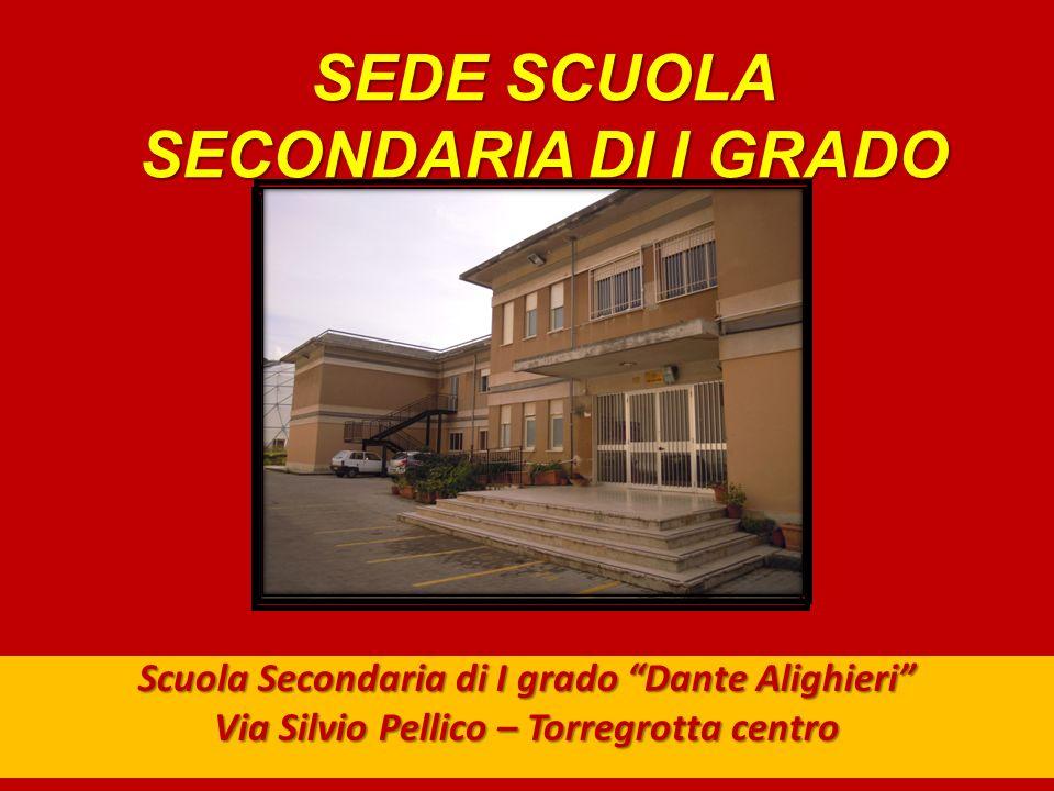 SEDE SCUOLA SECONDARIA DI I GRADO Scuola Secondaria di I grado Dante Alighieri Via Silvio Pellico – Torregrotta centro